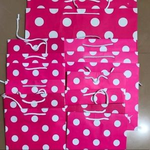 Victoria's Secret Pink Shopping Bags & tissues